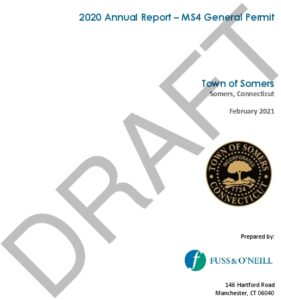 Icon of Somers 2020 MS4 Annual Report DRAFT