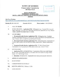 Icon of 20210303 Conservatoin Commissiong Regular Meeting Agenda