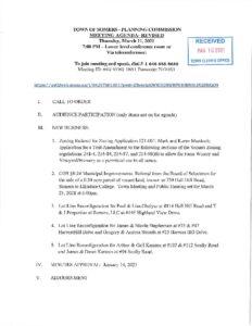 Icon of 20210311 Planning Commisson Agenda - REVISED