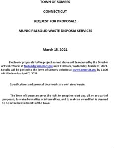 Icon of Town Of Somers Municipal Solid Waste Disposal RFP