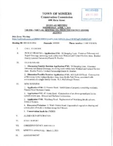 Icon of 20210407 Conservation Commission Regular Meeting Agenda