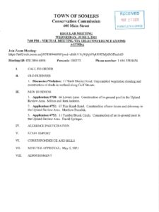 Icon of 20210602 Conservation Commission Regular Meeting Agenda