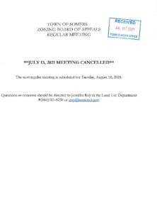 Icon of 20210713 ZBA Meeting Cancelled