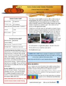 Icon of Somers Senior Center October Newsletter 2021
