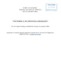 Icon of 20211012 ZBA Meeting Cancelled