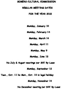 Icon of 2022 Cultural Comm Mtg Schedule
