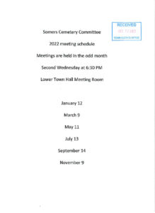 Icon of 2022 Cemetery Mtg Schedule