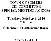 Icon of 20161004 CIP Special Agenda Cancelled