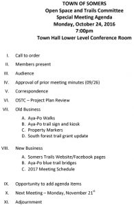 Icon of 20161024 Open Space And Trails Committe Special Meeting Agenda