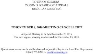 Icon of 20161108 ZBA Meeting Cancelled