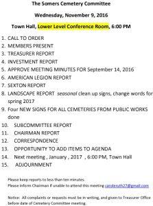 Icon of 20161109 Cemetery Comm Agenda