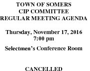 Icon of 20161117 CIP Agenda Cancelled