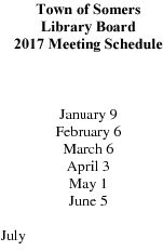 Icon of 2017 Library Board Mtg Schedule
