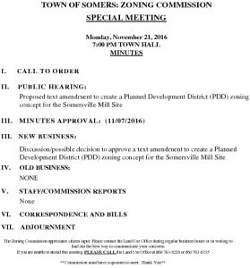 Icon of 20161121 Zoning Comm Special Agenda
