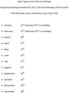 Icon of 2017 OSTC Meeting Schedule