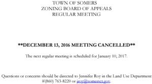 Icon of 20161213 ZBA Meeting Cancelled