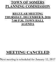 Icon of 20161208 Planning Agenda Canceled