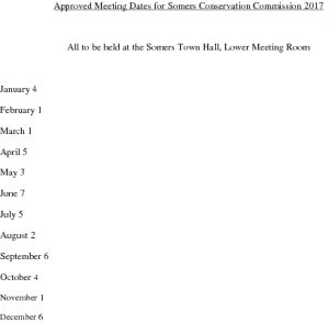 Icon of 2017 Conservation Comm Mtg Schedule
