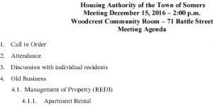 Icon of 20161215 Housing Auth Agenda