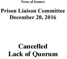 Icon of 20161220 Prison Liaison Mtg Cancellation
