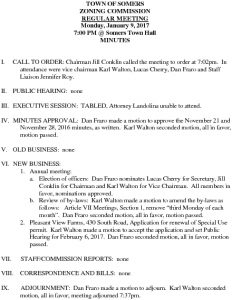 Icon of 20170109 Zoning Commission Minutes