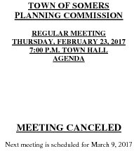 Icon of 20170223 Planning Agenda Canceled