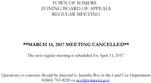 Icon of 20170314 ZBA Meeting Cancelled
