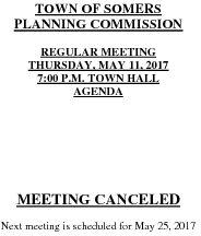 Icon of 20170511 Planning Agenda Canceled