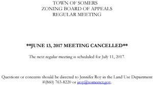 Icon of 20170613 ZBA Meeting Cancelled