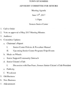 Icon of 20170613 Advisory Committee For Seniors Agenda