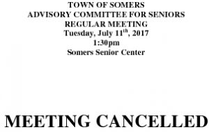 Icon of 20170711 Advisory Committee For Seniors MEETING CANCELLATION