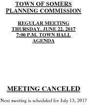 Icon of 20170622 Planning Agenda Canceled