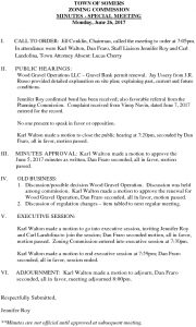 Icon of 20170626 Zoning Commission Special Meeting Minutes