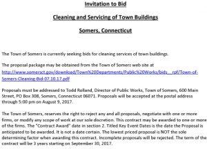 Icon of Invitation To Bid Cleaning Bid Coversheet