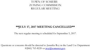 Icon of 20170717 Zoning Commission Meeting Cancelled