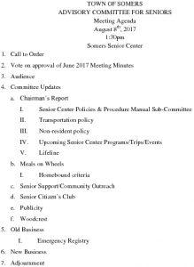 Icon of 20170808 Advisory Committee For Seniors Agenda