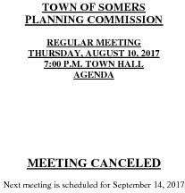 Icon of 20170810 Planning Agenda Meeting Canceled