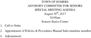 Icon of 20170830 Advisory Committee For Seniors SPECIAL MEETING Agenda