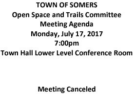 Icon of 20170717 Open Space And Trails Committe Meeting Canceled