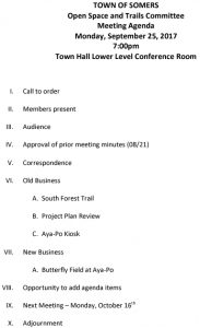 Icon of 20170925 Open Space And Trails Committe Meeting Agenda