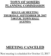 Icon of 20170928 Planning Agenda Meeting Canceled