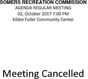 Icon of 20171002 Rec Commission Meeting Cancelled