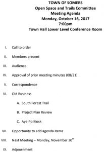 Icon of 20171016 Open Space And Trails Committe Meeting Agenda
