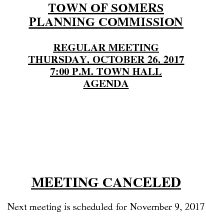 Icon of 20171026 Planning Agenda Meeting Canceled