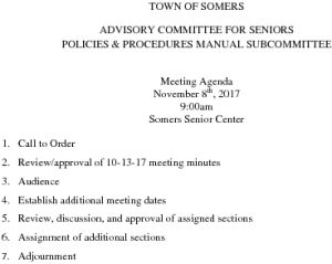 Icon of 20171108 Policies And Procedures Manual Subcommittee Agenda