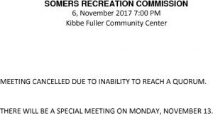 Icon of 20171106 Rec Commission Meeting Cancelled