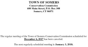 Icon of 20171206 Conservation Meeting Cancelled