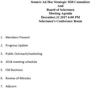 Icon of 20171211 Strategic Mill Agenda