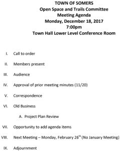 Icon of 20171218 Open Space And Trails Committe Meeting Agenda