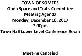 Icon of 20171218 Open Space And Trails Committe Meeting Canceled